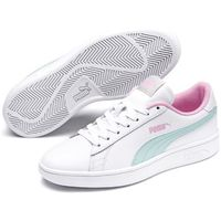 Puma smash v2 jr white-fair aqua-pale pink 35-36 (4060978878267)