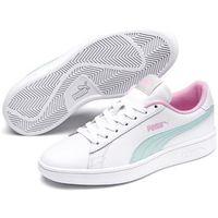 smash v2 jr white-fair aqua-pale pink 37 marki Puma