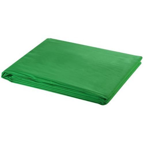vidaXL Tło fotograficzne, bawełniane, zielone, 5x3m (8718475814559)