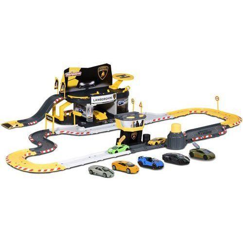 Majorette Creatix Tor wyścigowy Lamborghini i 5 autek (3467452038574)