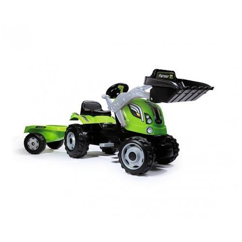 SMOBY Traktor Farmer XL z ładowaczem kolor zielony (3032167101099)