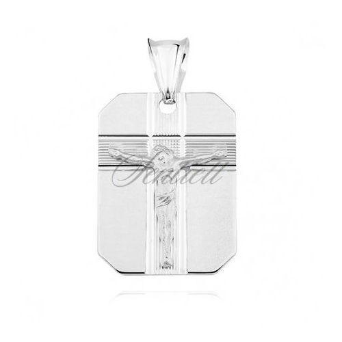 Srebrny diamentowany medalik pr.925 jezus na krzyżu - gmd100 marki Sentiell