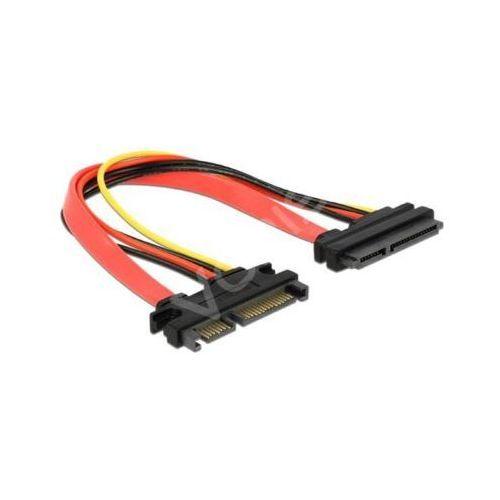 Przedłużacz kabla sata 7-pin + zasilanie 15-pin m/f marki Delock