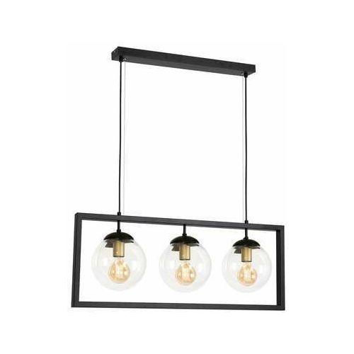 Luminex rey 1435 lampa wisząca zwis 3x60w e27 czarna (5907565914351)