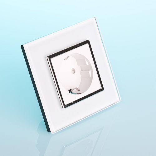 Livolo Vl-w01eu-wc gniazdo elektryczne 16a z białego szkła krystalicznego