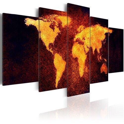 Obraz - mapa świata - gorąca lawa marki Artgeist