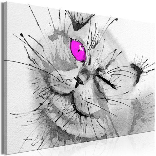 Obraz - Radosne spojrzenie (1-częściowy) szeroki różowy