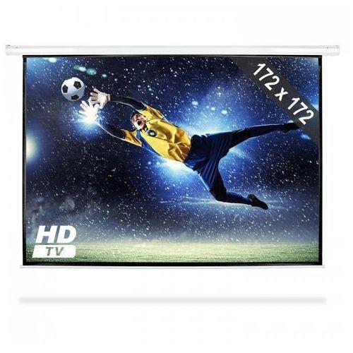 Frontstage elektryczny ekran zwijany 172x172cm kino domowe hdtv 1:1