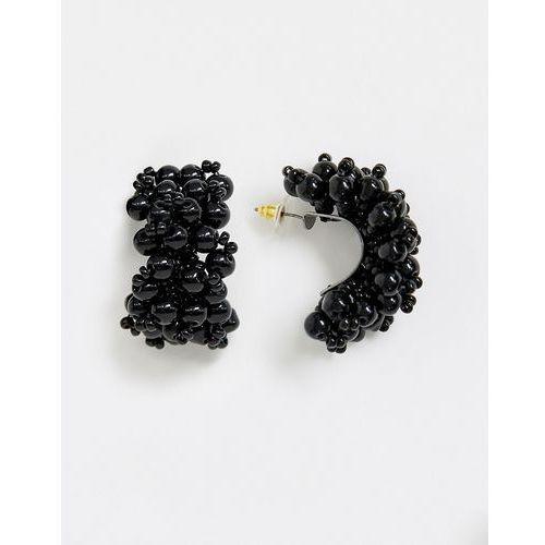 Mango beaded earrings in black - Black, kolor czarny