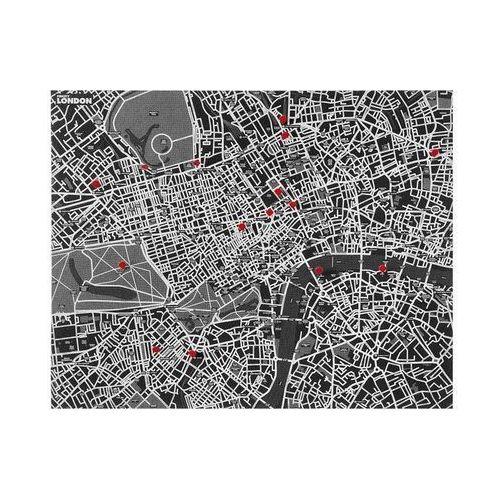 Palomar Dekoracja ścienna pin city londyn czarna (8033020510732)