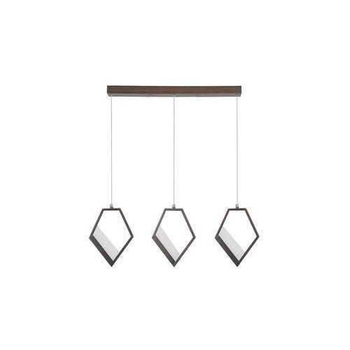 Rabalux Silvana 5644 lampa wisząca zwis 3x15W LED brązowy metalik (5998250356440)