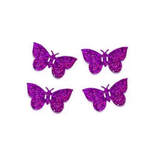 Twojestroje.pl Konfetti holograficzne motyle różowe