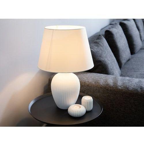 Beliani Lampka stołowa biała fergus (7105278519223)