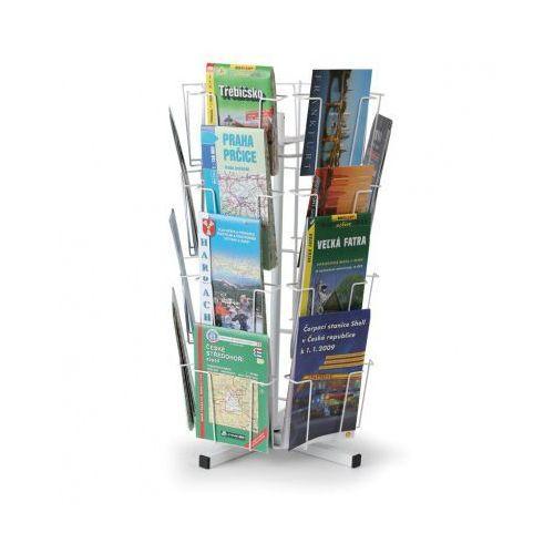 B2b partner Obrotowy stojak stołowy na kartki pocztowe, mapy, 24 kieszeni
