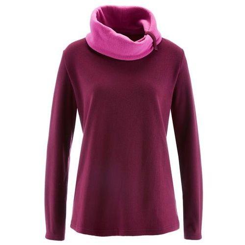 Bluza z polaru, długi rękaw bonprix jeżynowy, kolor fioletowy