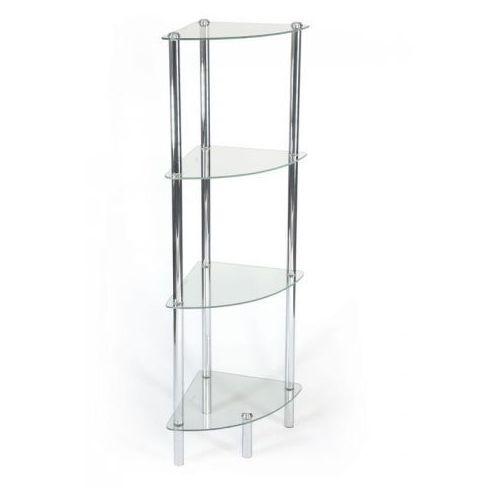 Awd interior regał łazienkowy narożny szkło - 4 półki awd02040013
