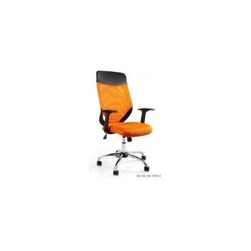 Krzesło biurowe Mobi Plus pomarańczowe, kolor pomarańczowy