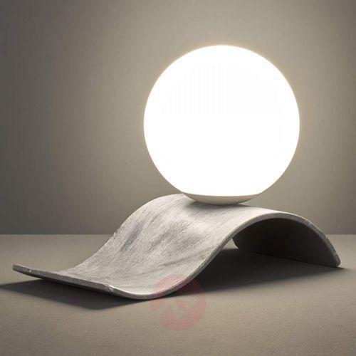 Szklana lampa stołowa Lara w antycznej szarości (4017807387445)