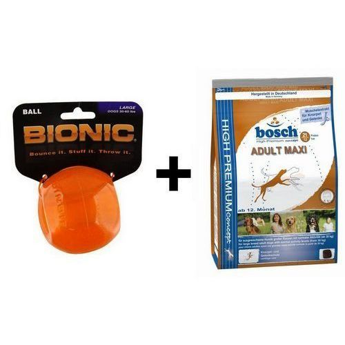 Outward Hound Bionic Ball Large piłka duża [BO-CL205] + Bosch Adult Maxi 3kg, 14434 (6747394)