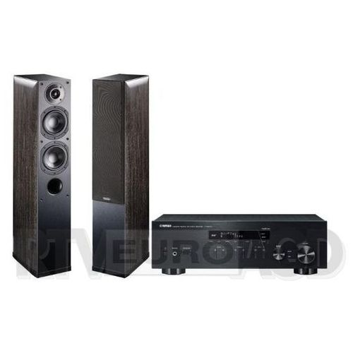 Yamaha MusicCast R-N303D (czarny), Indiana Line Nota 550 X (czarny dąb) (0000001133168)
