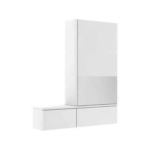 Nova Pro Koło szafka wisząca 70 8 x 85 x 17 6 cm z lustrem prawa biały połysk - 88433000, 88433000