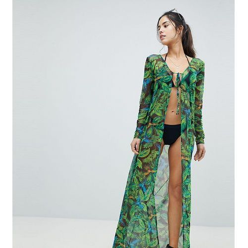 PrettyLittleThing Tropical Maxi Beach Cover Up - Multi