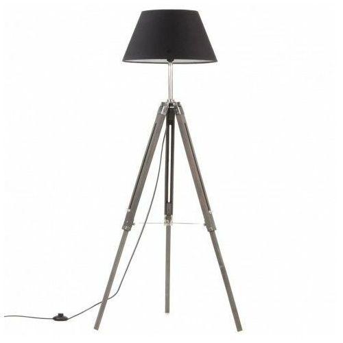 Lumes Szaro-czarna lampa stojąca drewniana trójnóg - ex199-nostra