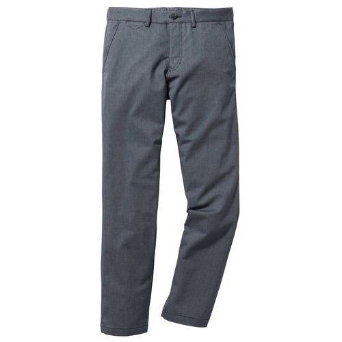 Spodnie chino o wyglądzie wełnianych regular fit ciemnoniebieski melanż, Bonprix