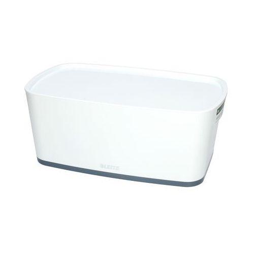 Pojemnik mały z pokrywką biało/szary mybox leitz marki Esselte