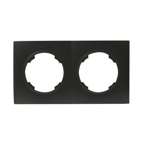 Efapel Ramka podwójna soul czarny dmp solid (5903332580965)