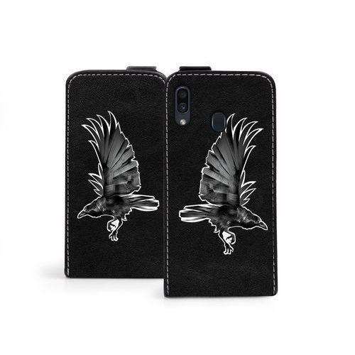 Samsung Galaxy A30 - etui na telefon Flip Fantastic - czarny kruk