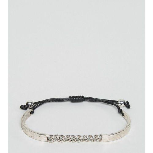 DesignB London Woven Cord & Metal Bracelet Exclsuive To ASOS - Silver, kolor szary