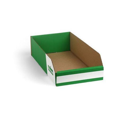 Skrzynki regałowe z kartonu, składane, opak. 150 szt., dł. x szer. x wys. 400x20