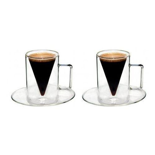 OKAZJA - Filiżanka Szklanka Termiczna Espresso 2x70ml, OD RĘKI Tel. 570 31 00 00