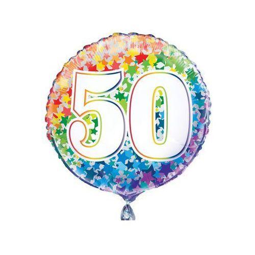 Unique Balon foliowy kolorowy - 50tka - 47 cm - 1 szt.