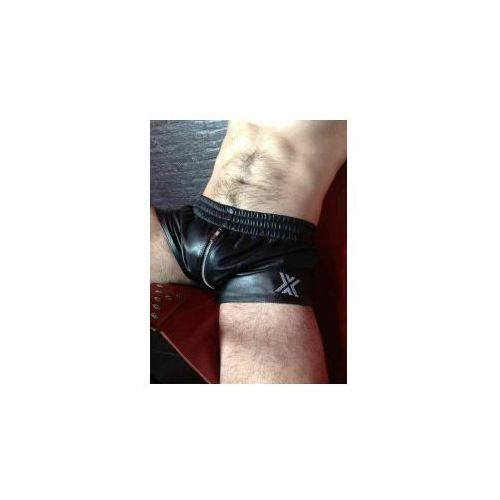 BOXER Leather Sports Short with Zip, Rozmiar - XL