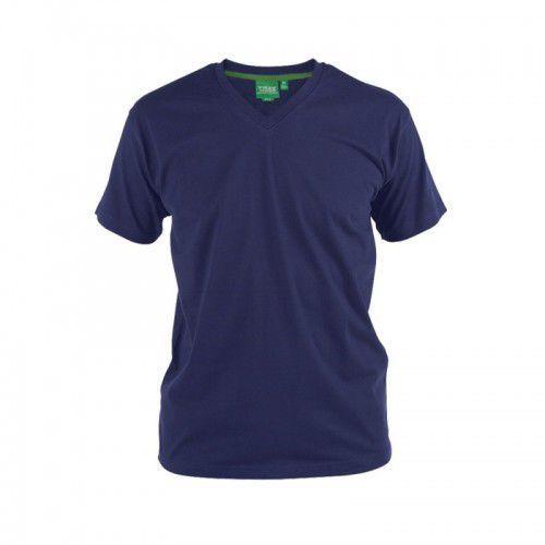 Duke Signature-d555 t-shirt męski granatowy duże rozmiary