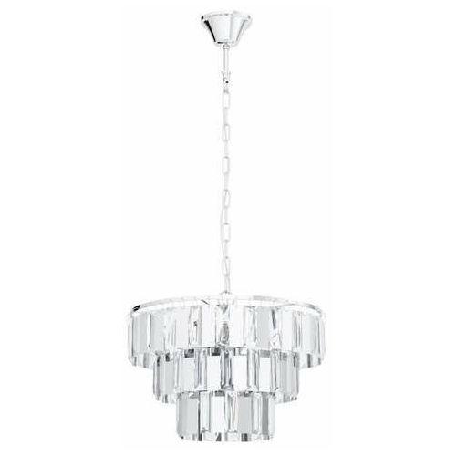 erseka 99095 lampa wisząca zwis 5x40w e14 chrom/transparentna marki Eglo