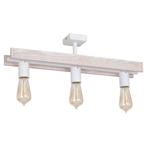 Luminex Plafon gera 8273 lampa sufitowa 3x60w e27 biały / brązowy (5907565982732)
