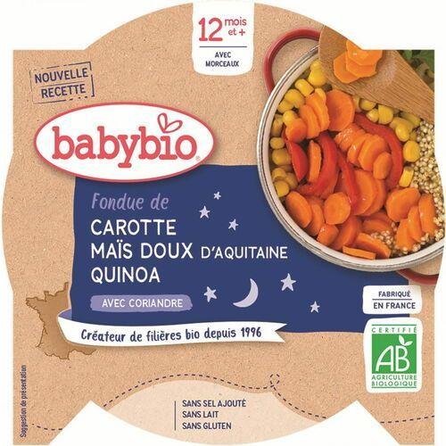 Babybio Danie na dobranoc mix warzyw z quinoa od 12 miesiąca bezglutenowe bio 230 g
