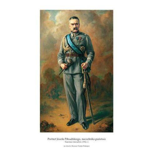 Plakat A3 - Portret Józefa Piłsudskiego, naczelnika państwa, Stanisław Zawadzki (1934 r.) GPlakJP07