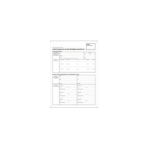 Firma krajewski Karta badań do celów epidemiologicznych / a4 kpl-100 szt [pu/ksn-6]