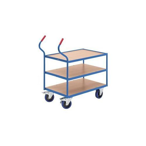 Przemysłowy wózek stołowy, 3 piętra, wys. pięter: 235 / 500 / 765 mm. nośność 40 marki Eurokraft