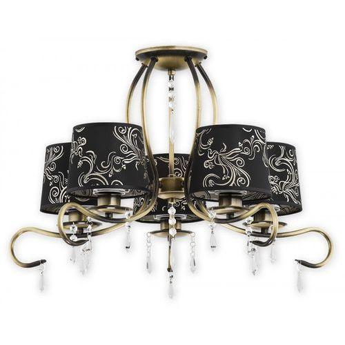 Lemir barsa o2475 w5 pat plafon lampa sufitowa żyrandol 5x60w e27 patyna / czarny (5902082866558)