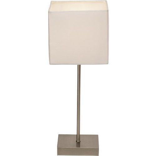 Lampa stołowa aglae 94873/05, e14, 1 x 40 w, 230 v, (dxsxw) 15 x 15 x 43.5 cm, biały, chrom (satynowy) marki Brilliant