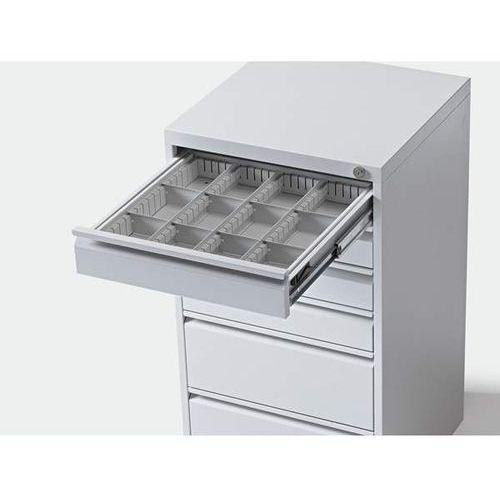 Zestaw przegród do szuflad, do szafy z szufladami, do szuflad o wys. 100 mm. 3 p