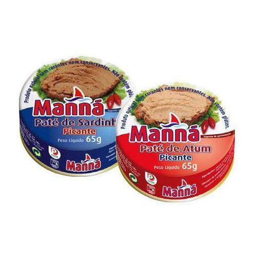 Manná  zestaw 3 - portugalskie pasty z tuńczyka i sardynek pikantne 6x65g