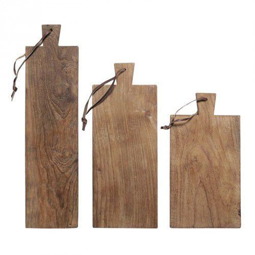 Zestaw desek z drzewa tekowego (3 SZT) HK living (8718921006019)