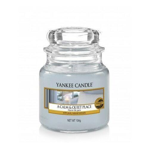 Yankee candle Świeca zapachowa mały słój a calm & quiet place 104g
