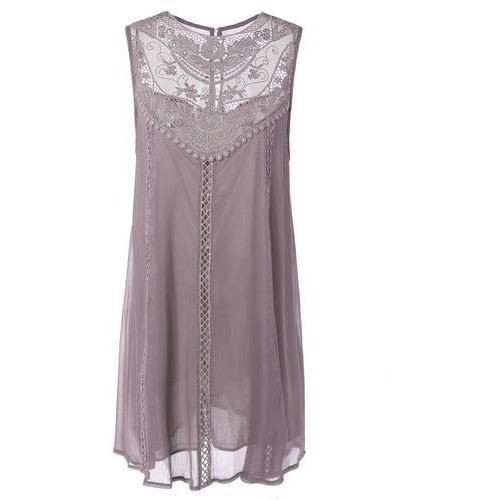Embroidered Lace Insert Dress